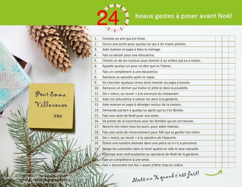 24 beaux gestes à poser avant Noël