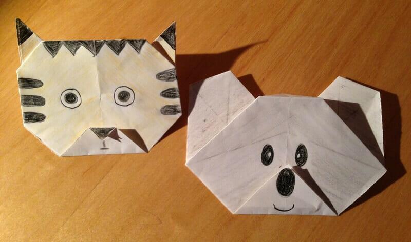 Tigre et Koala en origami
