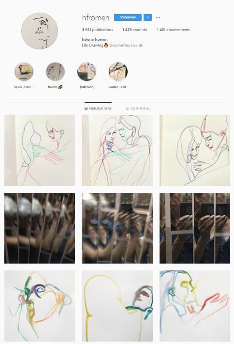 Exemple de grille Instagram - hfromen