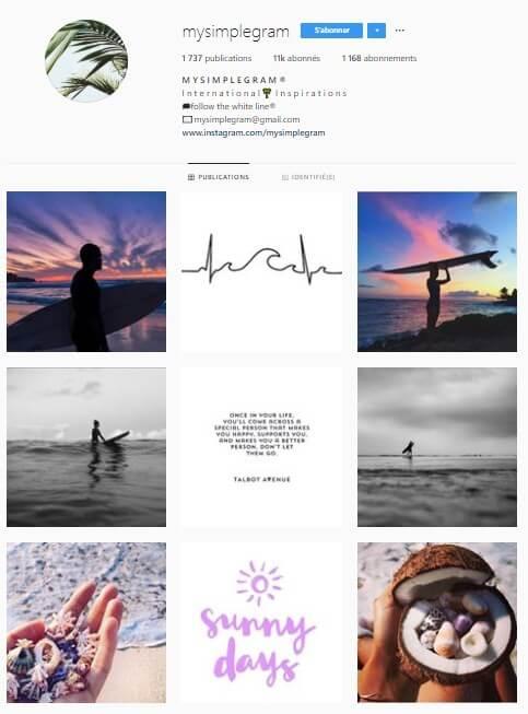 Exemple de grille Instagram - mysimplegram