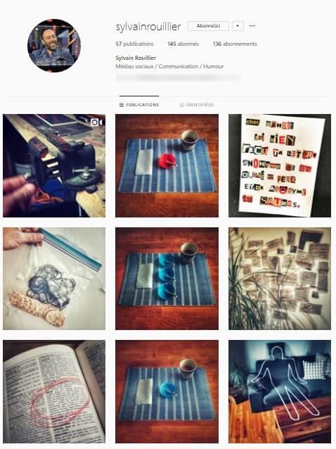 Exemple de grille Instagram - sylvainrouiller